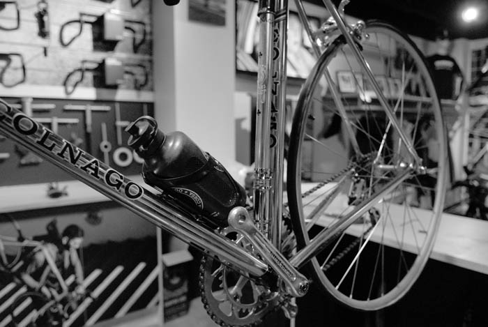 Super record campagnolo equipped Colnago plenty of pantographed parts and gold plating