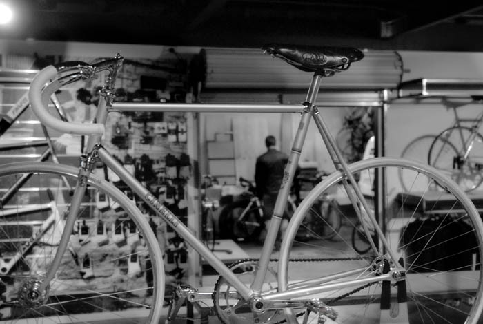 The Cinelli Pista ready for viewing
