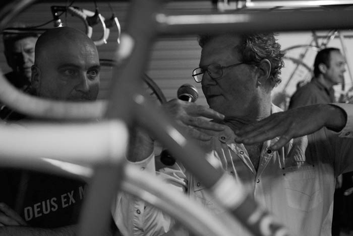 Greg Softley talking about the finer points of the 1960's vintage Colnago Pista