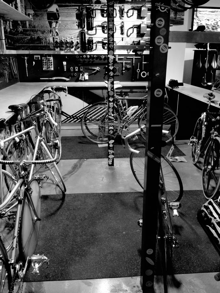 The next morning all of Greg Softley's bikes had to be packed back into their boxes, it took most of the day.