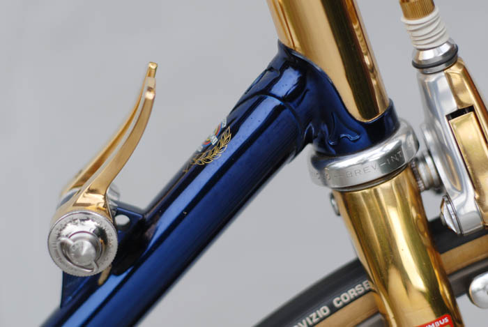 Cromovelato over gold plating on a Columbus SLX frame.