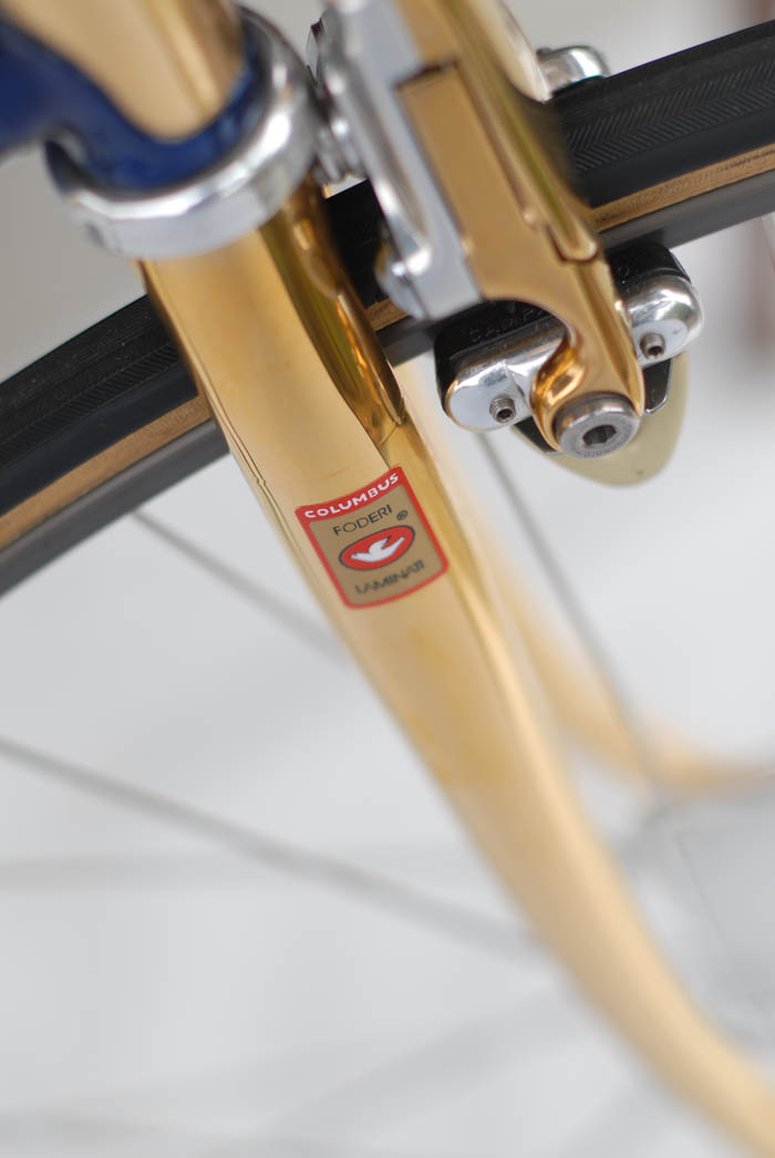 lumbus forks with internal fork crown, ICS gold plated.