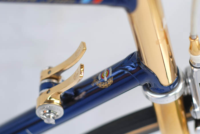 Expert painting, the lug line on the ICS is pin sharp in it's detailing, along the edge where blue paint meets gold.