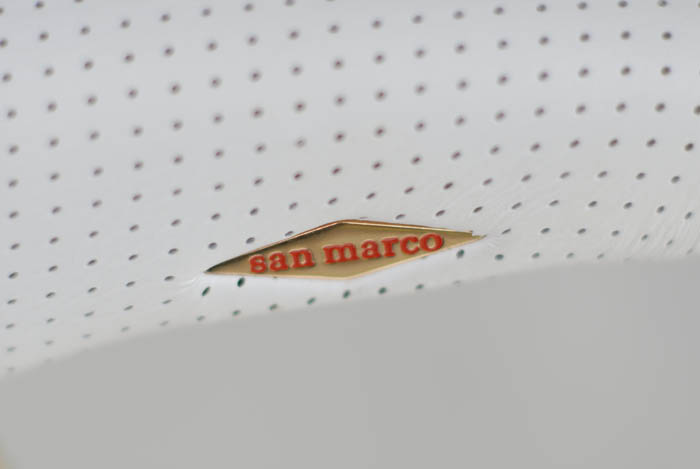Selle San Marco rolls saddle detail.