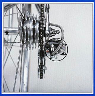 3-D diagonally adjustable Campagnolo Super Record Rear Derailleur