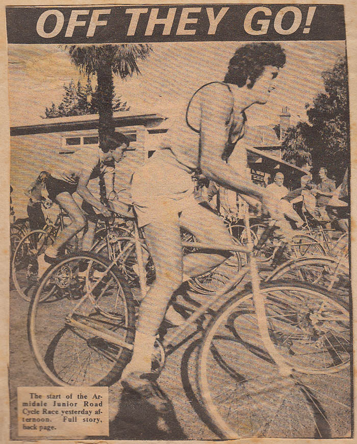 The first race for a new Armidale Cycling Club in 1975. From this race the Armidale Police Citizens Boys Club Cycling Club was formed.