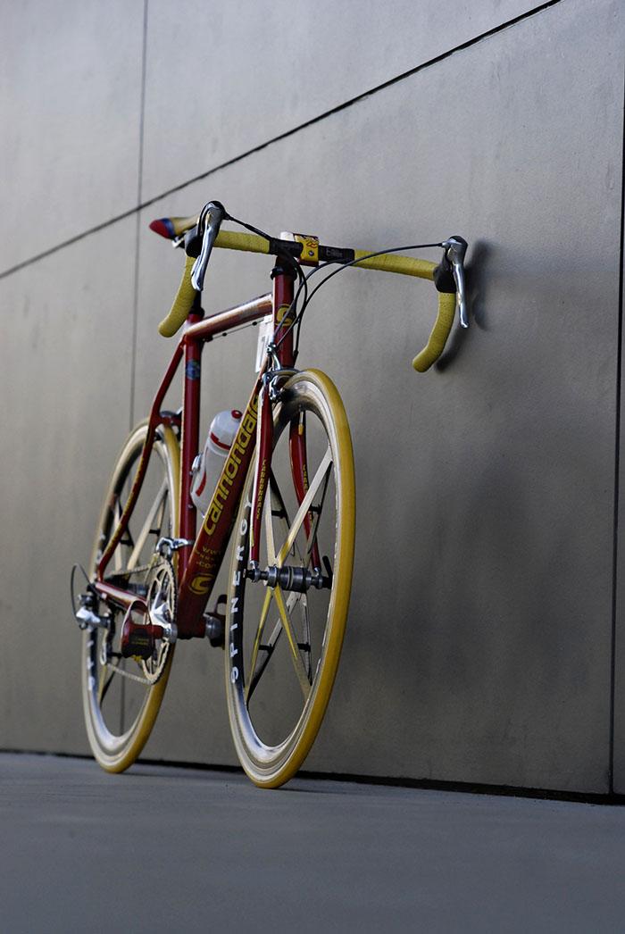 Cannondale Saeco, Adam Pelzer's version of one of Cipollini's famous race bikes.