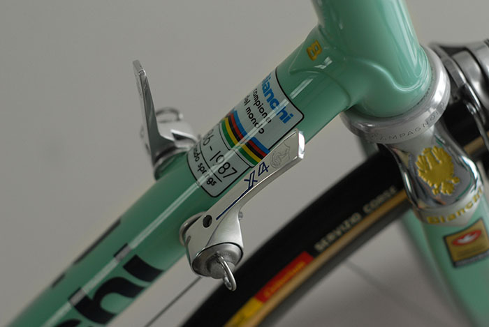 Another sought after detail, investment cast lugs bearing the mark of the  Bianchi B.