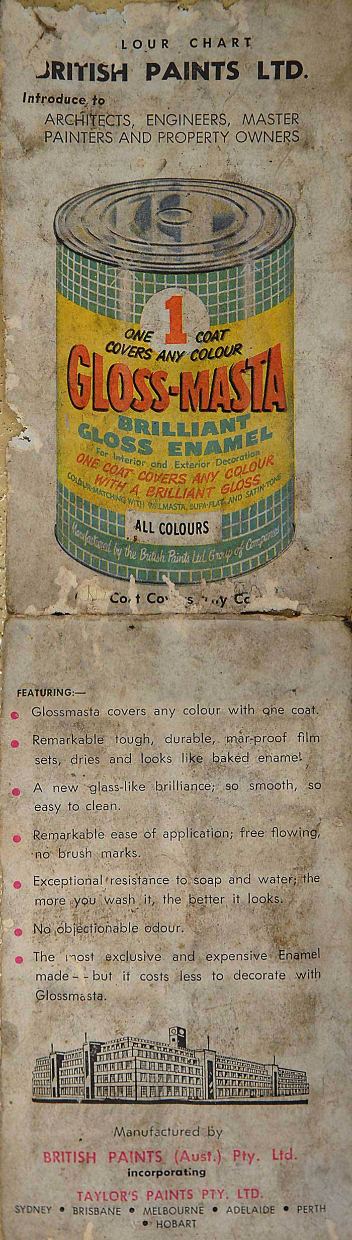 Despite it's intended use for house painting, full gloss enamel paints were sold for re-painting bicycles. The attraction here, one small tin of paint wa cheap and it could coat an entire bike frame if applied with care.