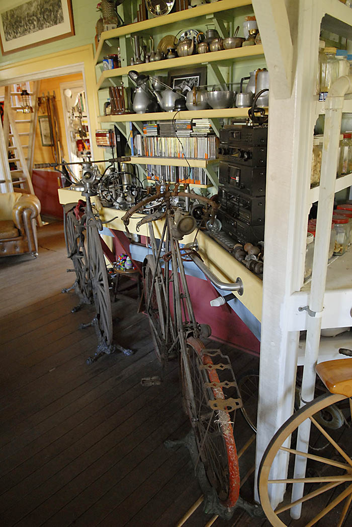 Dandy horses, velocipedes, safety bicycles and penny farthing, James Macdonald collected them all.