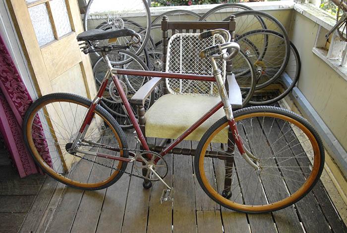Vintage bikes wherever you turn.