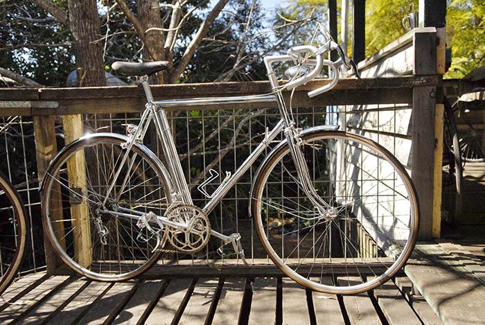 Semi racer's, roadster's, touring bikes, Moulton's, tandem's, mountain bikes .. you name it James had an example somewhere.