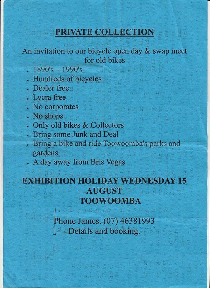 No Lycra, No Dealers, Hundreds of Bikes, Only Old Bikes and Collectors