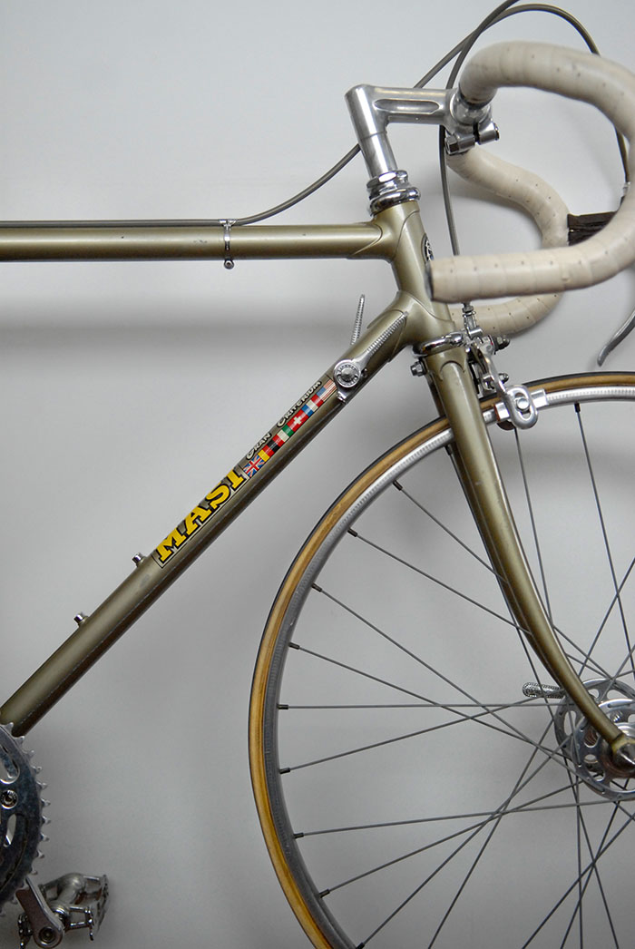 This Masi Special junior bike built for Antonio Maspes' son Roberto Maspes was kept by the Maspes family for decades.  Now in the bicycle collection of Greg Softley.