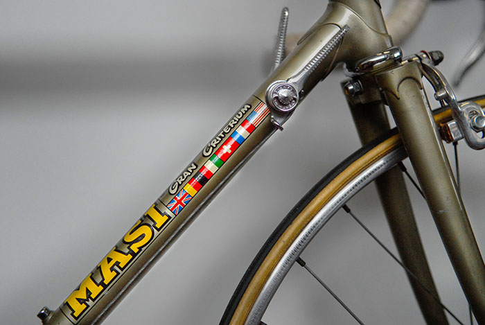1970's Masi Gran Criterium decal on a 1960's Junior Masi Special.