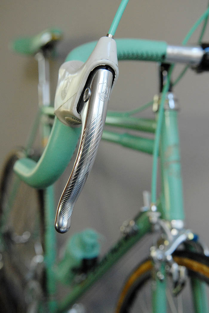 Fastidiously preserved almost thirty years on and this C Record Campagnolo brake lever represents a piece of Bianchi history.