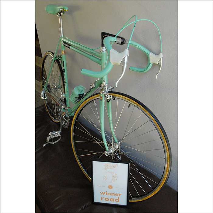 Pushies Galore 2015 road bike, bragging rights only bike. The Cologne Bianchi X4.