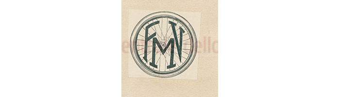 One of two FMV marks registered for the Magistroni brothers, F.M.V [Fabbricazioni Meccaniche Vedano] Monza Italy. This version features the letters FMV inside a bicycle wheel.