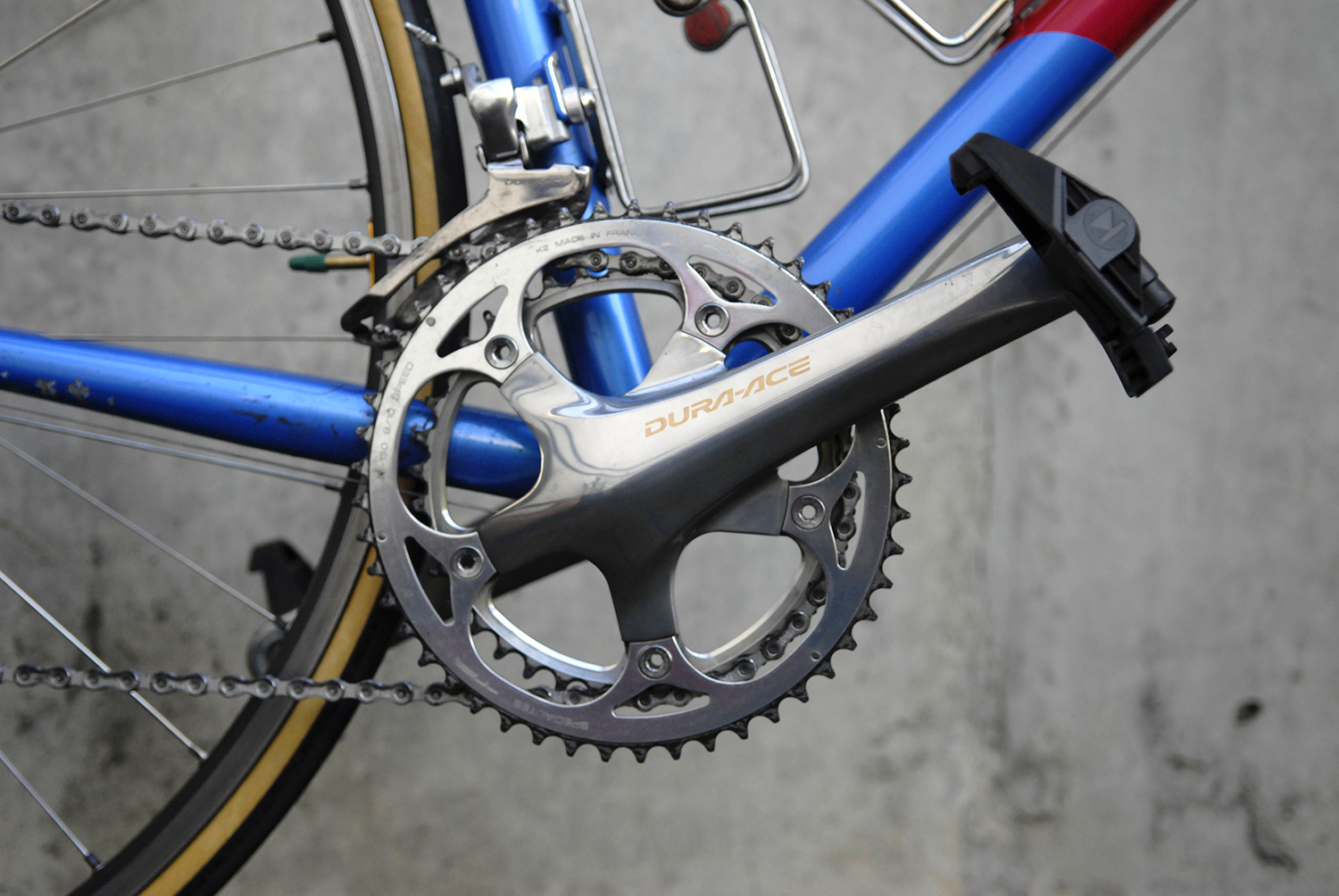Dura Ace 7800 Shimano crankset with Keywin pedals