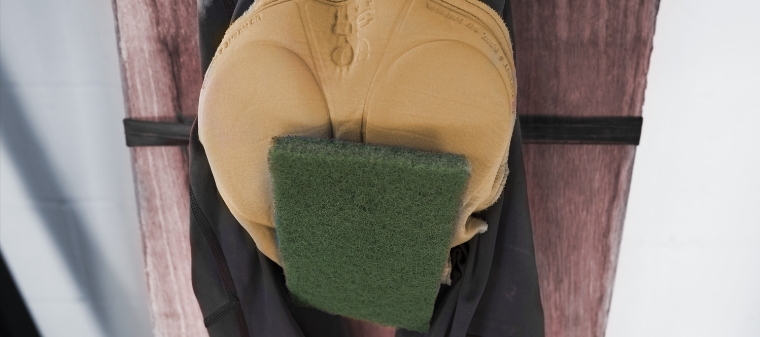 The Green Shammy, special training apparatus devised by The Crank's coach leather crotch McGee.