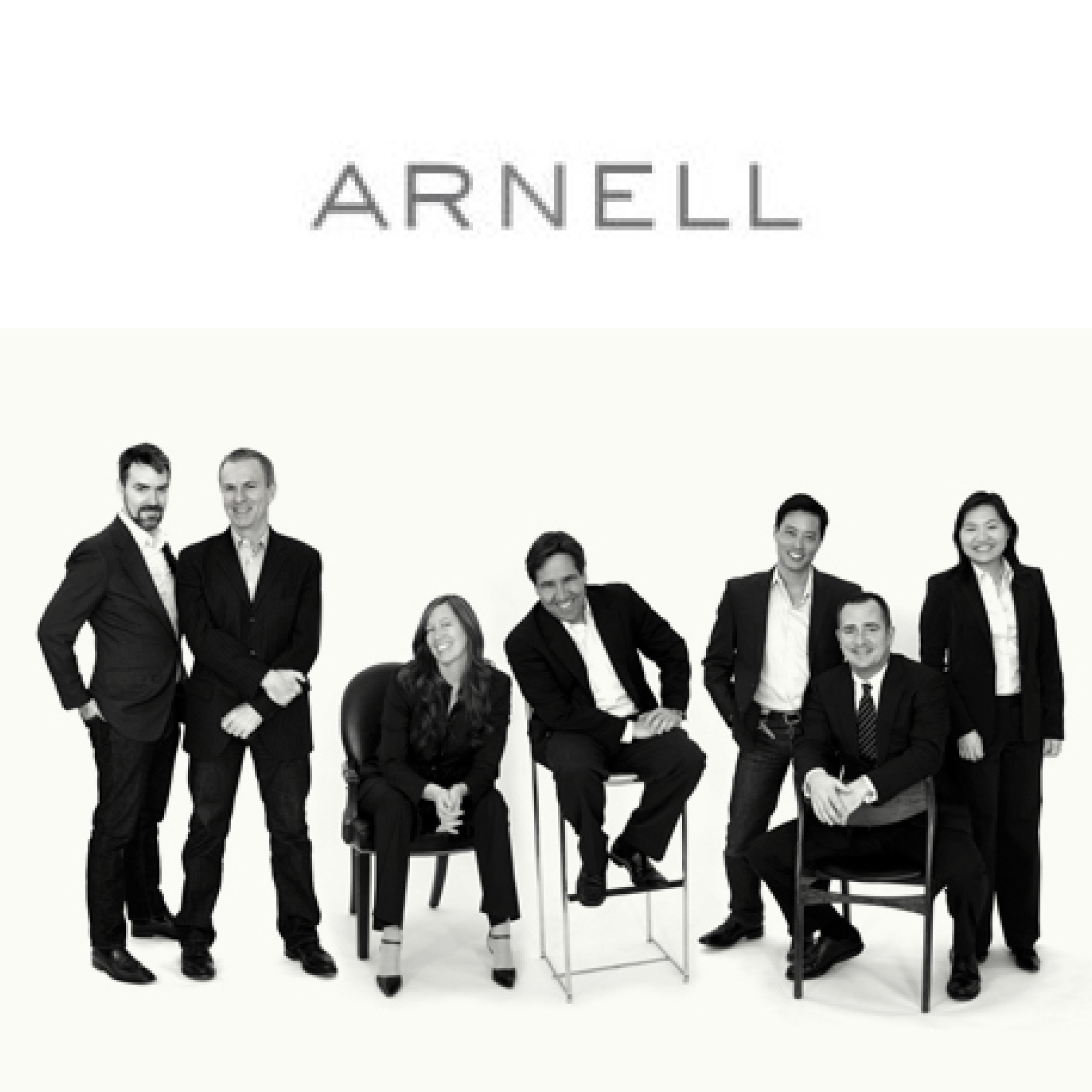 Sarah Arnell, co-founder + Chief Strategic Officer of Arnell Group, is seated third from left.