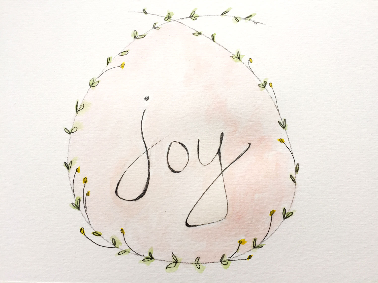 JOY, WATERCOLOUR, DEC 2015