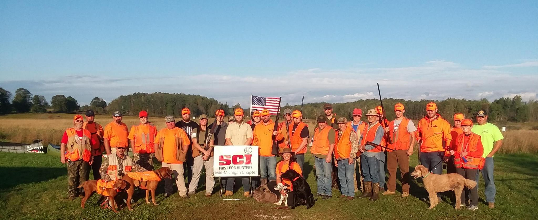 Veteran hunters at Tails A Wagging Marion March