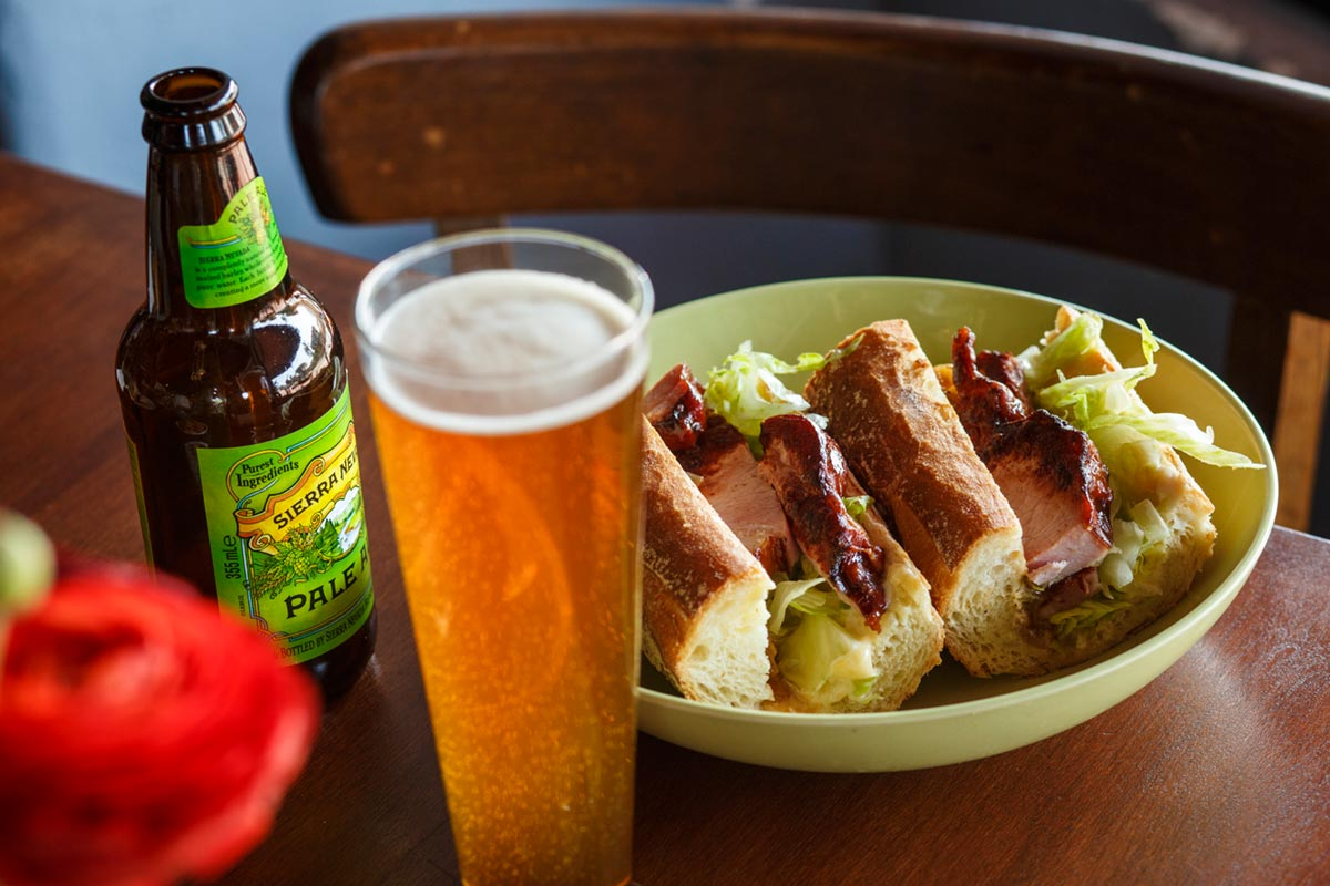 Beer and baguette