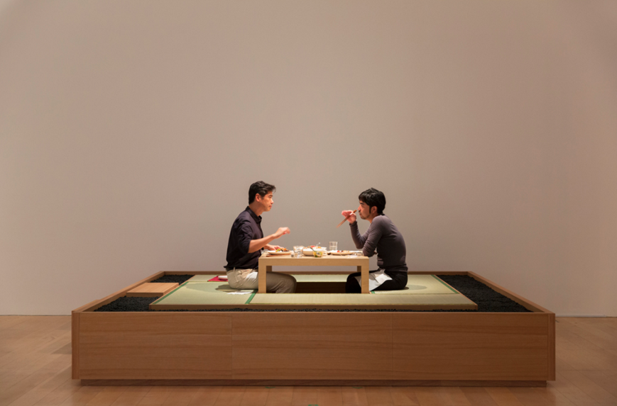 "Lee Mingwei, "" The Dining Project, "" 1997/2014. Photo courtesy: Mori Art Museum, Tokyo."