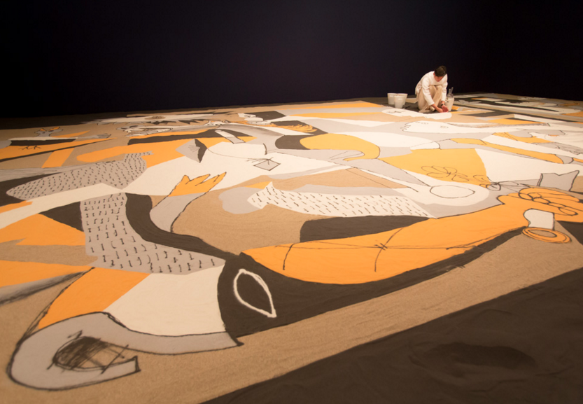 "Lee Mingwei, "" Guernica in Sand ,"" 2006/2014."