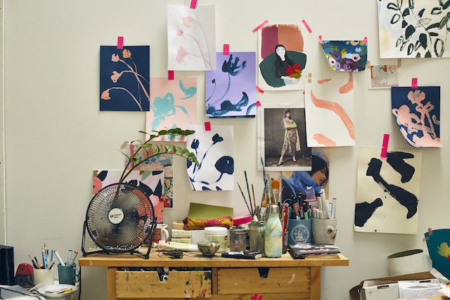 Studio Visit with artist KT Smail on the UO Blog