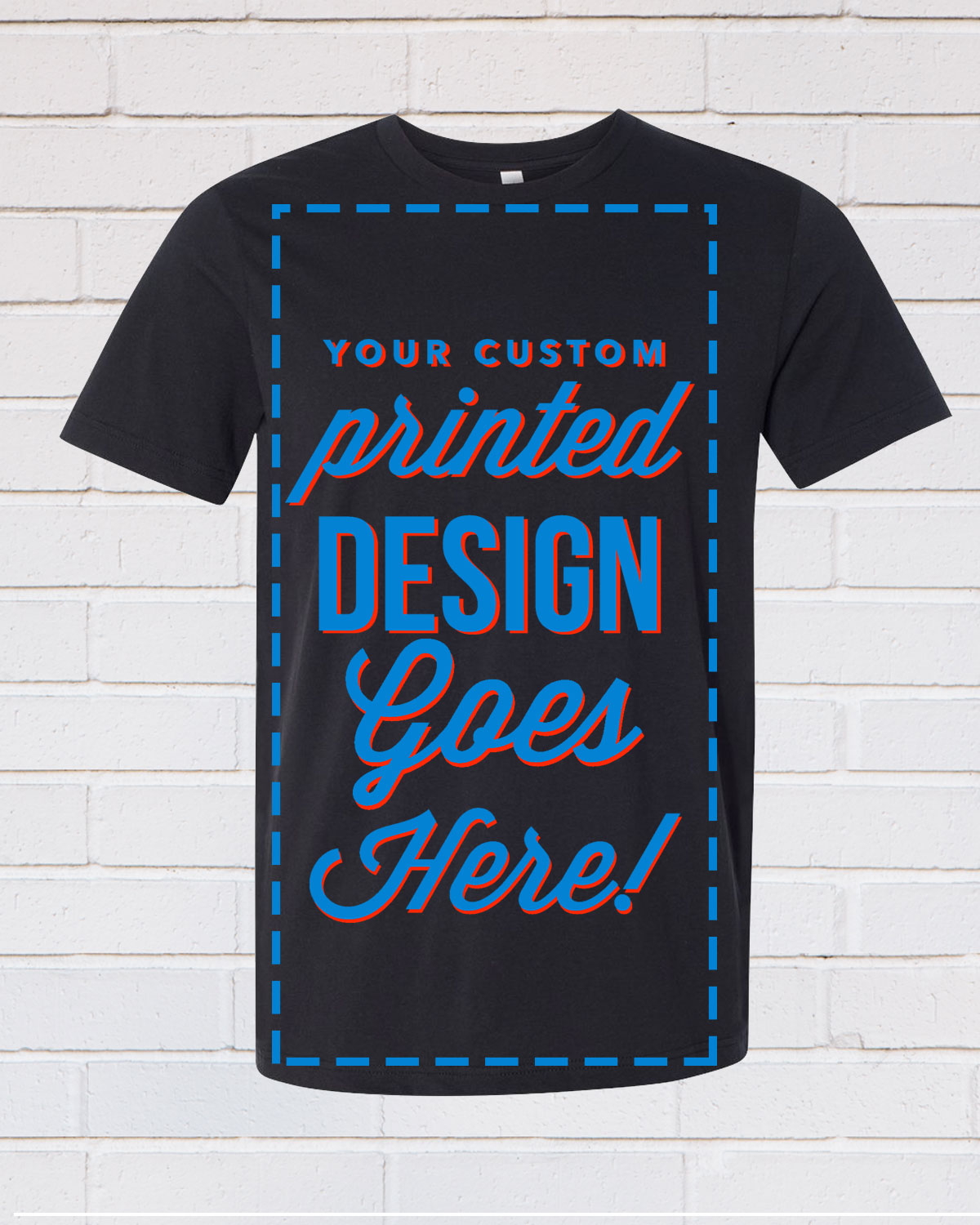 Black Every Day Customize Tee