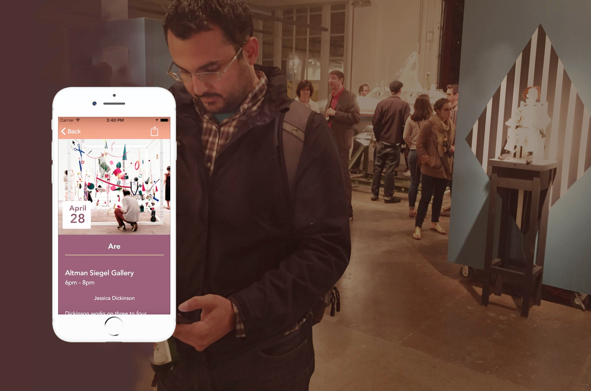 SF Art Opening   Social Design / iOS Prototyping   Learn More →