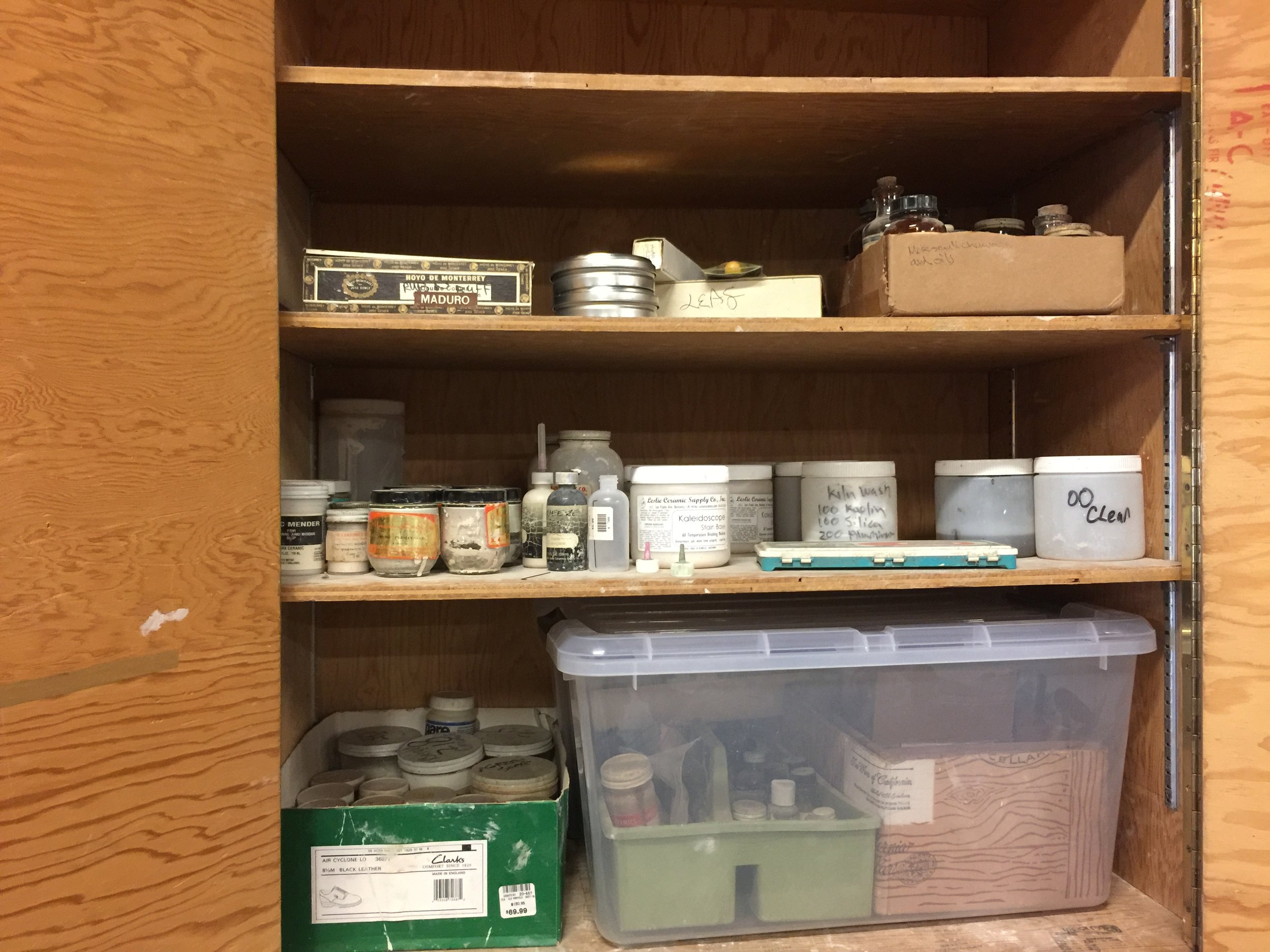 Copy of Spatial organization of art supplies