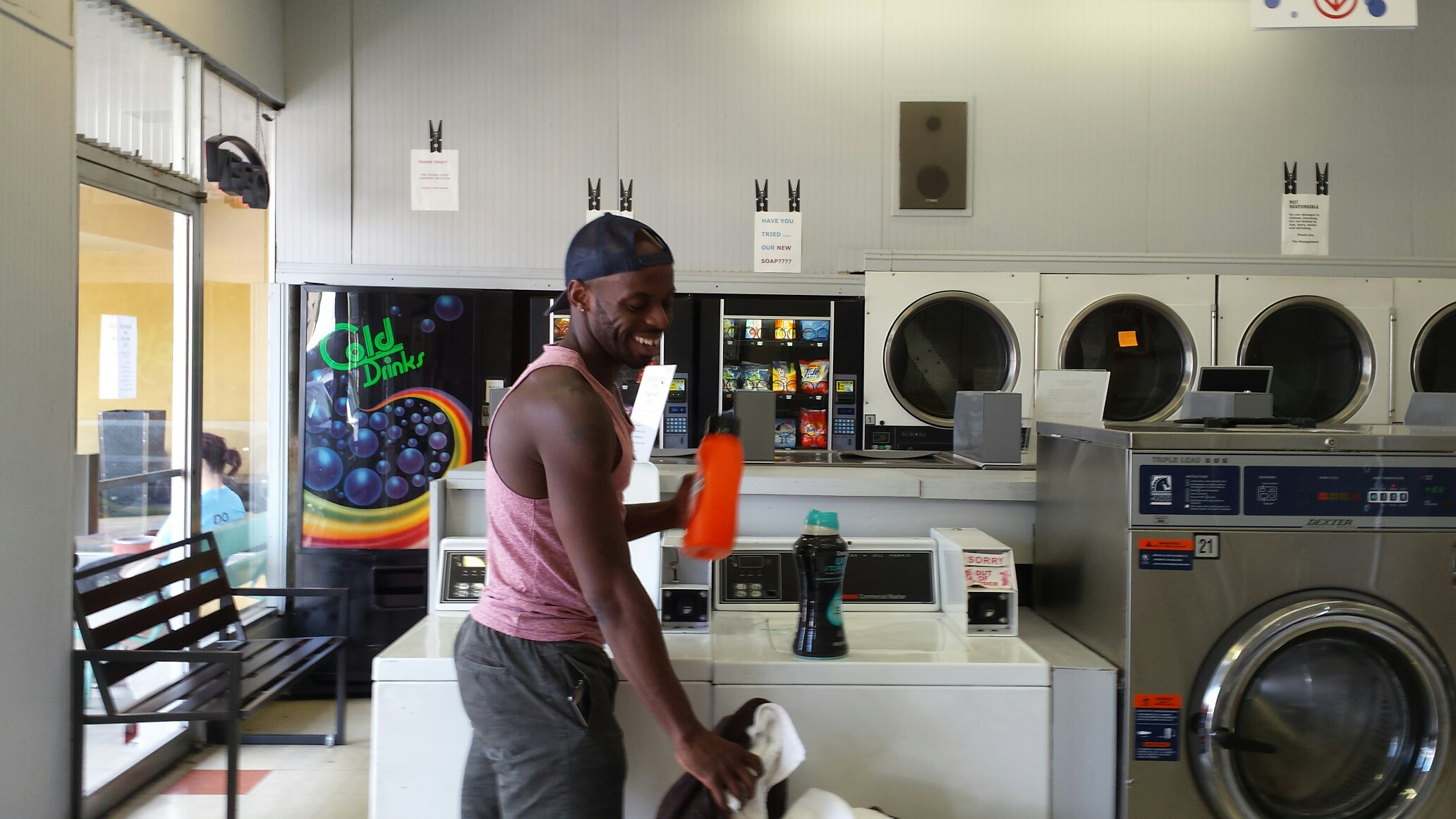Getting laundry done and having fun!