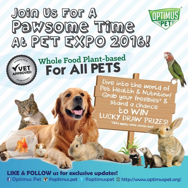 Join Optimus Pet at Pet Expo Singapore 2016