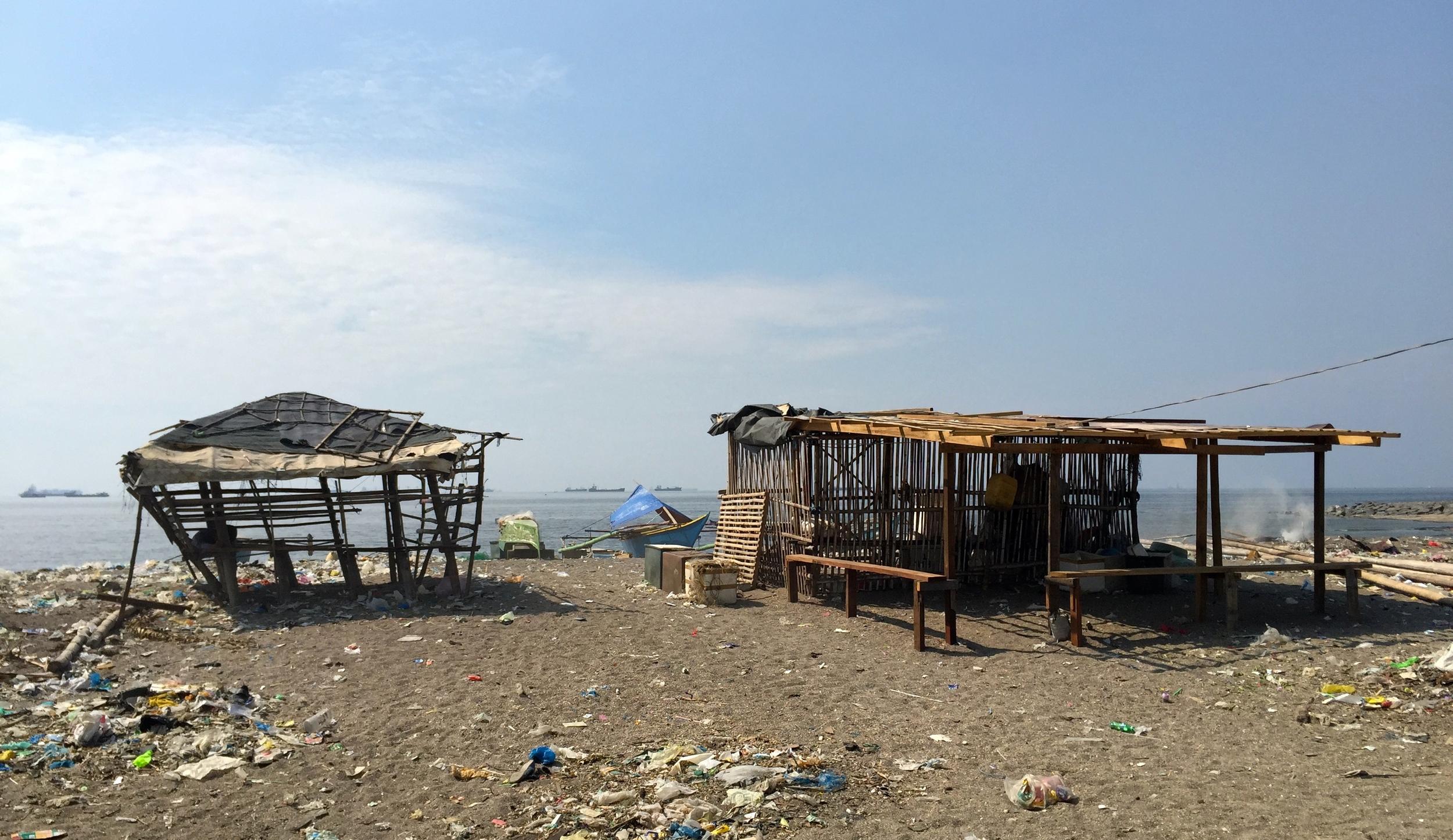 Houses on Baseco beach