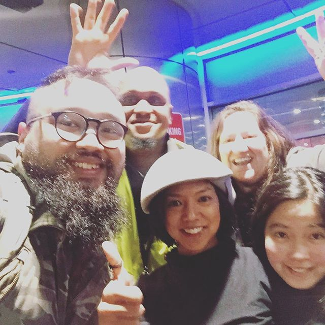 We will miss you @martidesu and @akieyano! Thanks for being such amazing, fun folk with ace film skillz and ❤️💪🏾👍🏾! + shout out to cool airport guy...