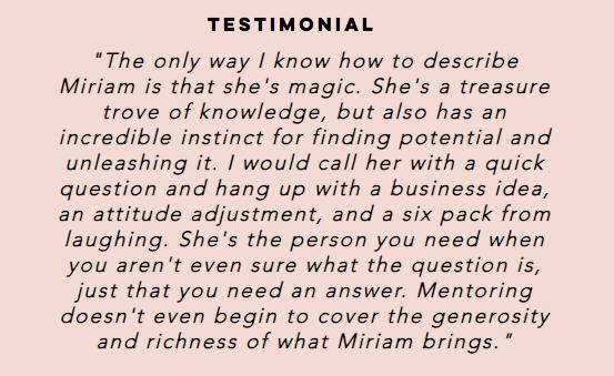 quote from Miriam Jones