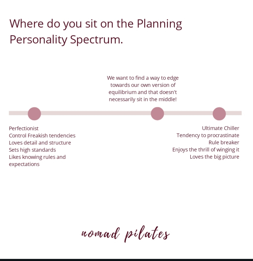 Nomad Pilates Planning Personality spectrum for Pilates teachers