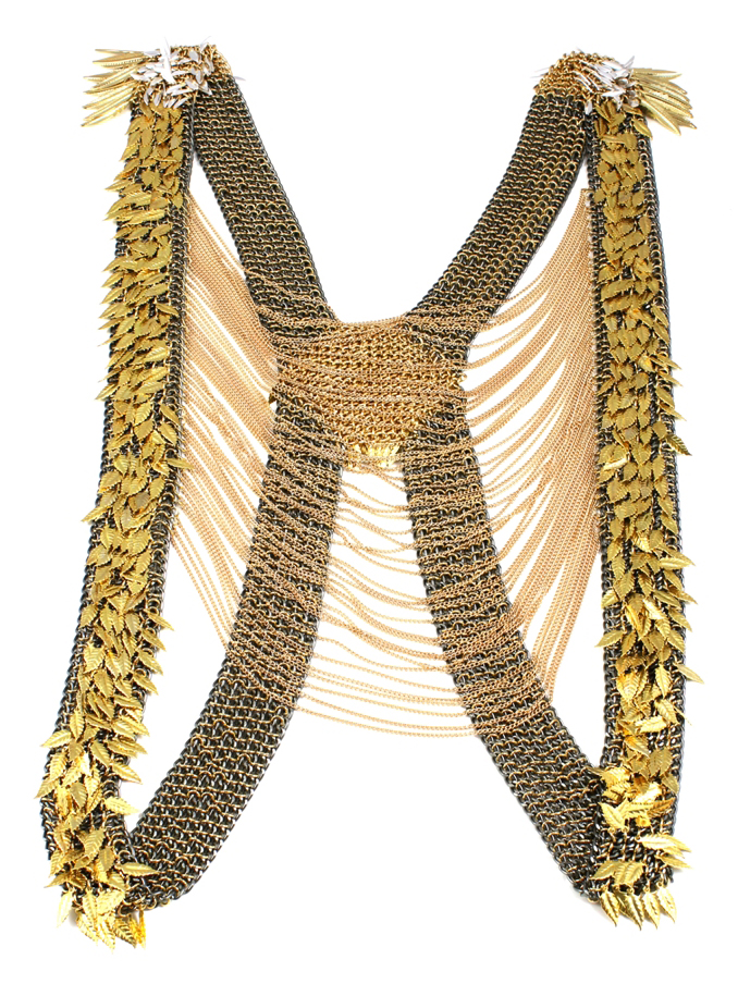037 Leaf Embellished Chain Vest.jpg