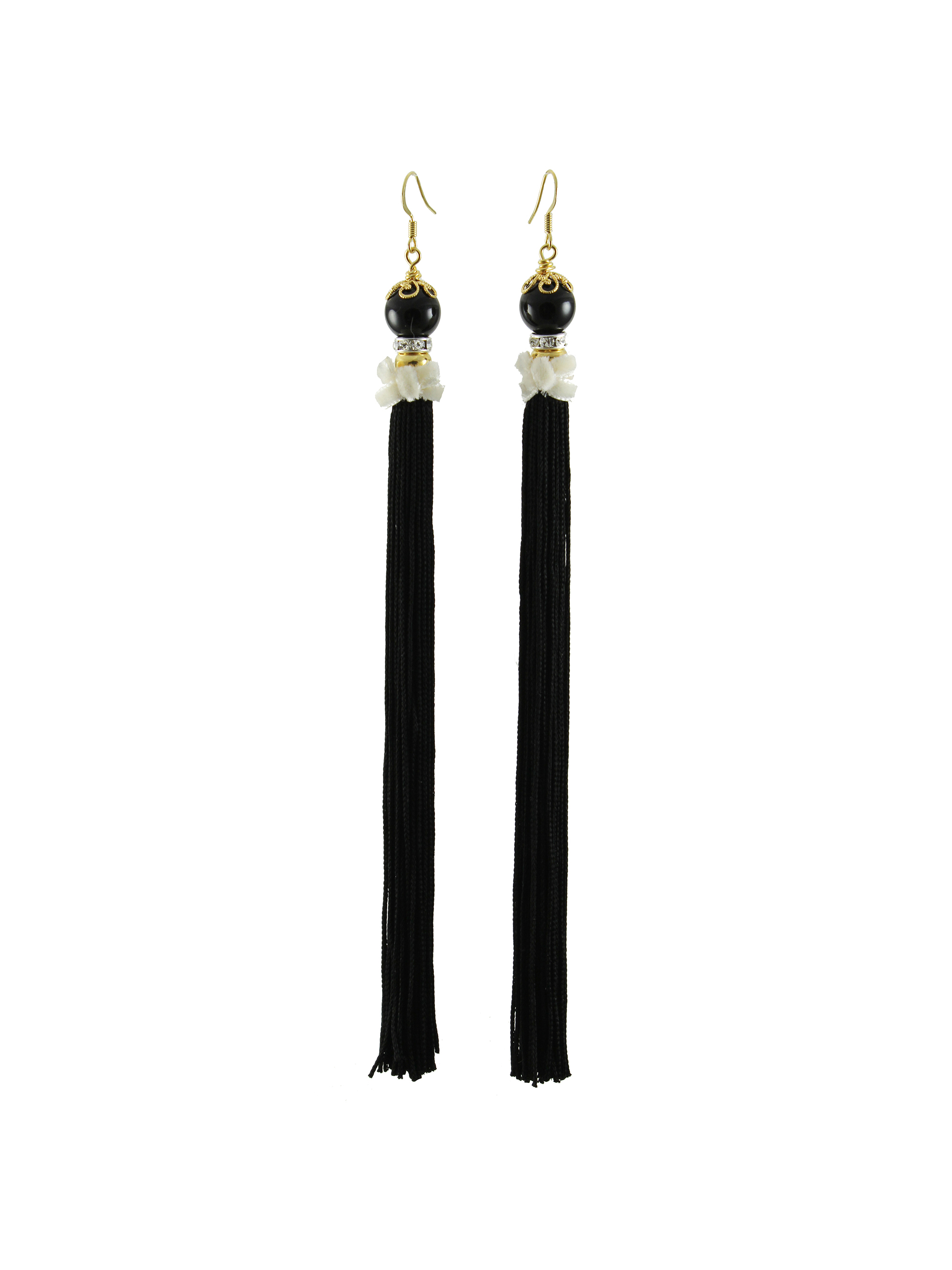 067B - Pearl & Tassel Earrings - Black.jpg