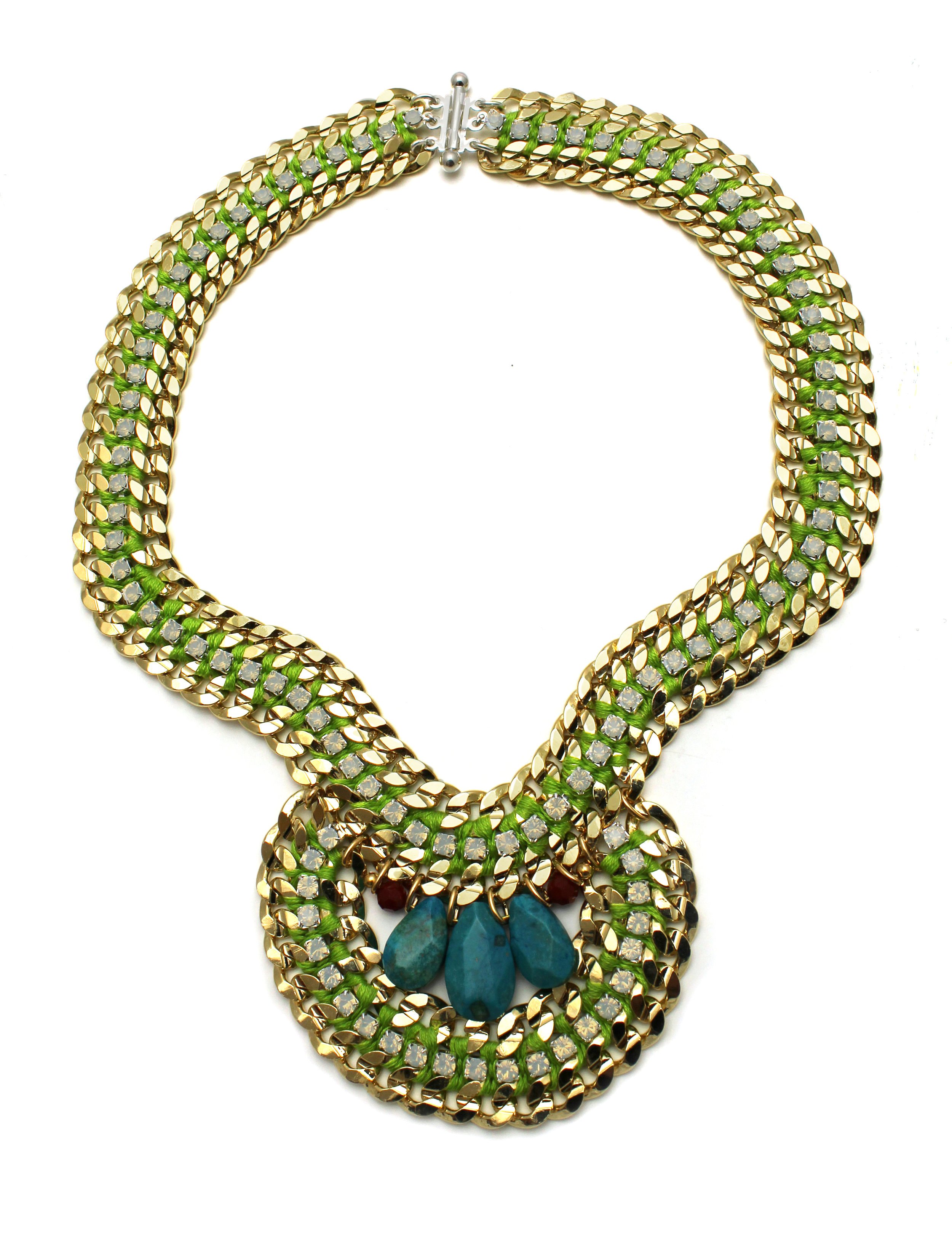 077 Turquoise & White Opal Lime Necklace.jpg