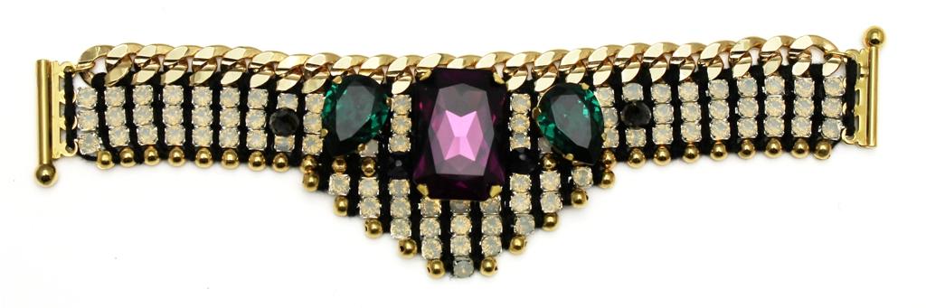 118 - White Opal Embellished Deco Bracelet.jpg