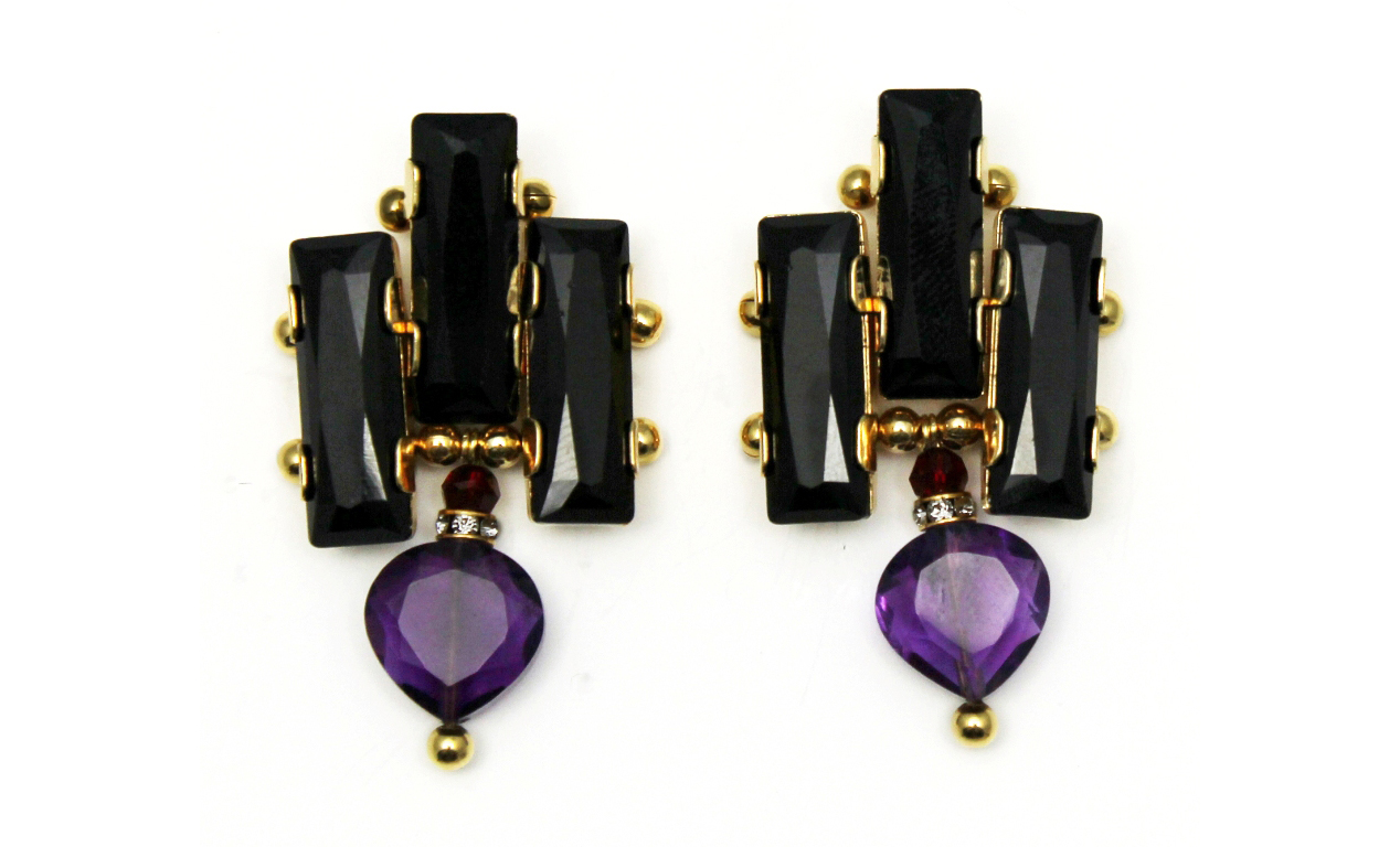 126P - Deco Drop Earrings (BlackPurple).jpg