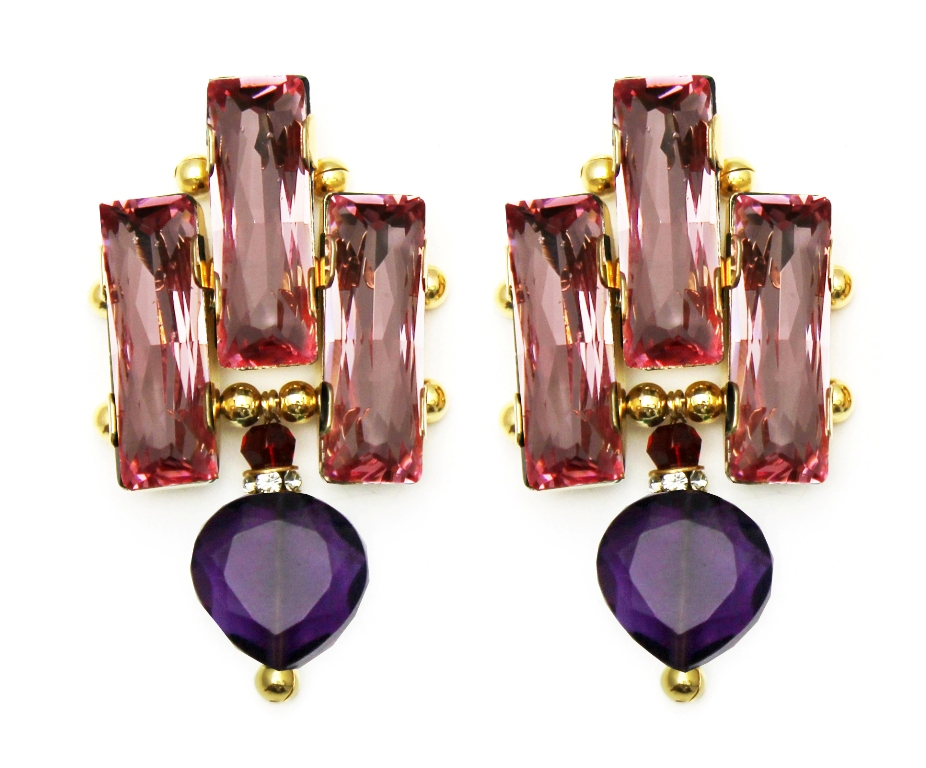 126PP - Deco Drop Earrings (PinkPurple).jpg