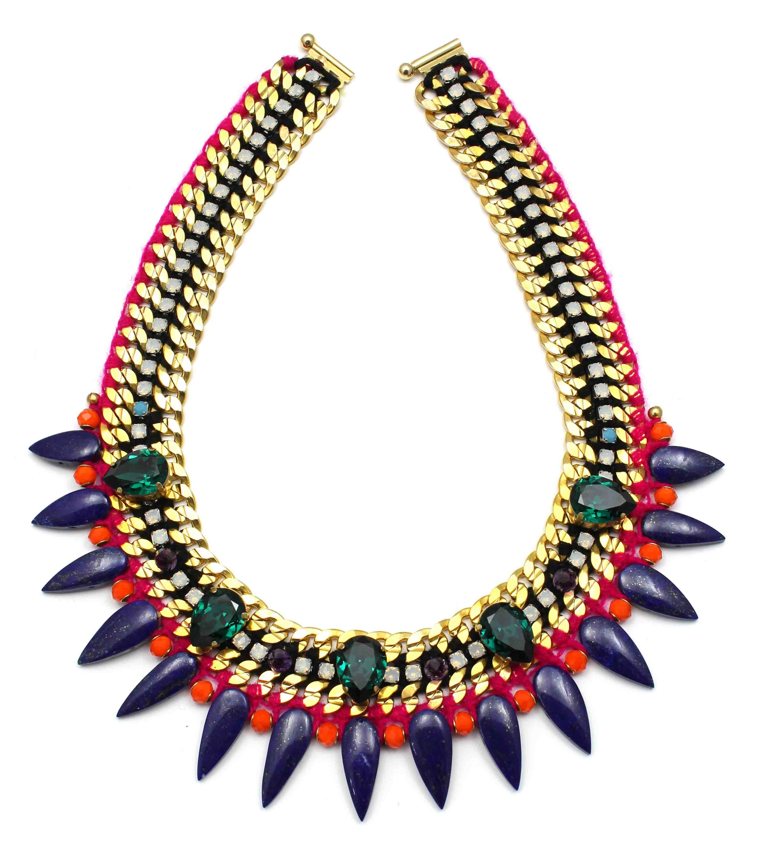 132 Tropicana Bright Spiked Necklace.jpg