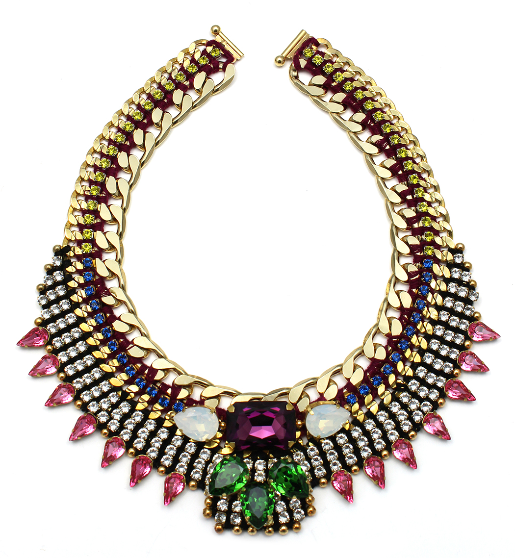 136 Tropicana Bright Crystal Bib Necklace.jpg