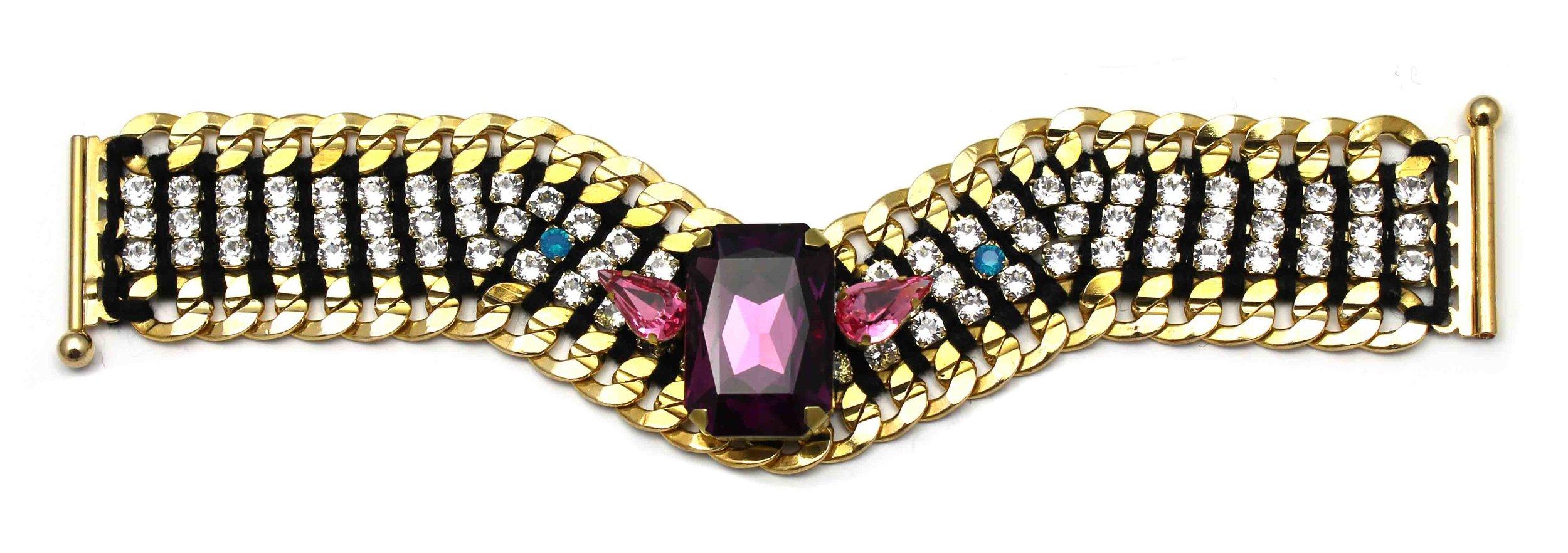 145C Tropicana Crystal V Bracelet - Crystal.jpg