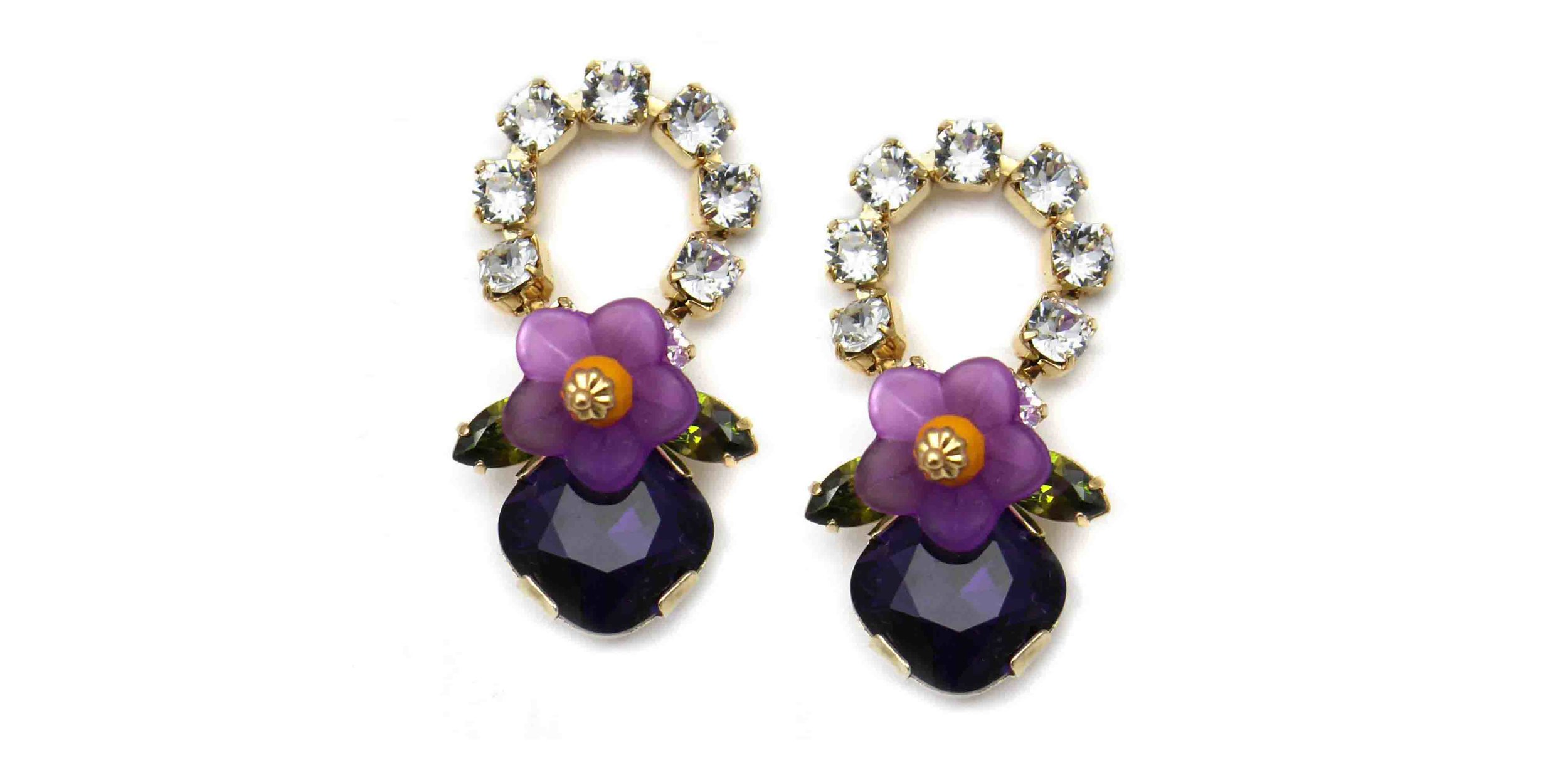 165CP Botanical Loop Earrings - CrystalPurple.jpg